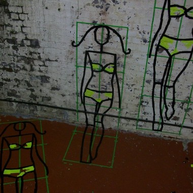 Fashion Week London – Tape Art von DUMBO AND GERALD