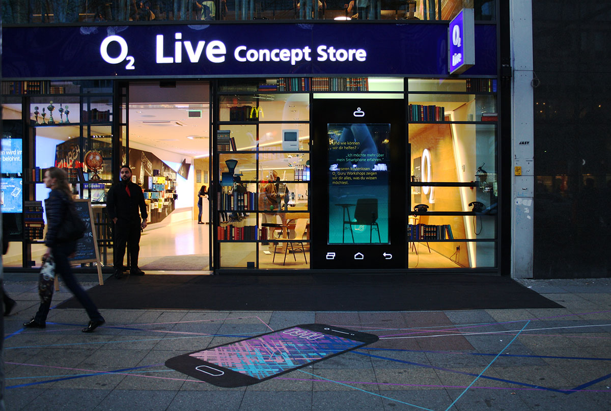 Samsung Galaxy @ o2 Live Store – Tape Art von DUMBO AND GERALD