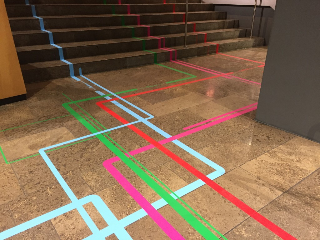 Tape Art / Geklebte Wege – Leitlinien für die Academic Week der Daimler AG / by DUMBO AND GERALD