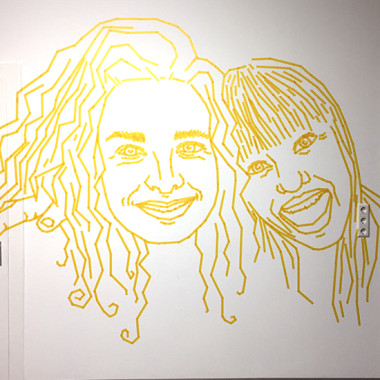 tapeart workshop with dumbo and gerald – girls portrait