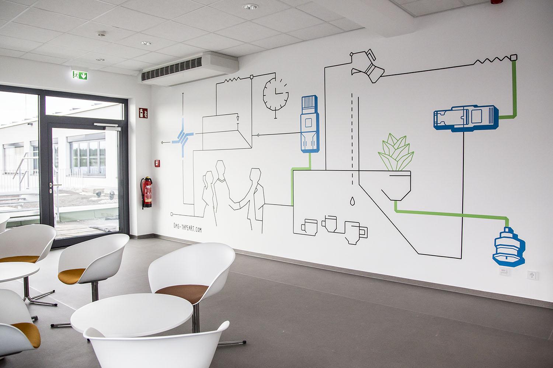 Tape Art / Bürowand Gestaltung bei Telegärtner / DUMBO AND GERALD