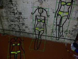 Fashion Week London – Tape Art von DUMBO AND GERALD