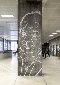 Städtebau-Institut Uni Stuttgart – Tape Art-von-DUMBO AND GERALD-Professoren