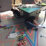 Tape Art für rbb Studiokulisse / re:pulica 2017 / by DUMBO AND GERALD