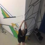 Tape Art Workshop im LAZ von ThyssenKrupp Presta mit DUMBO AND GERALD