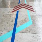4TAPE-ART-DUMBOANDGERALD-Leitsystem-Riem-Arcaden-Muenchen
