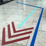 5TAPE-ART-DUMBOANDGERALD-Leitsystem-Riem-Arcaden-Muenchen